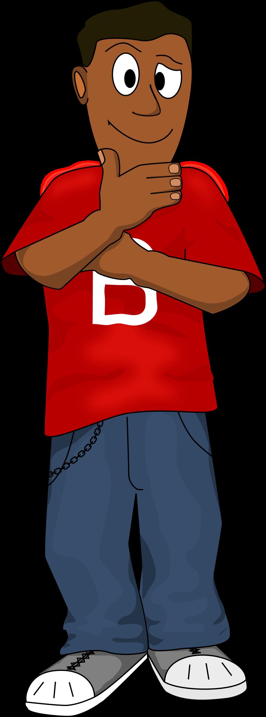 Dark skinned boy big. Clipart png thinking