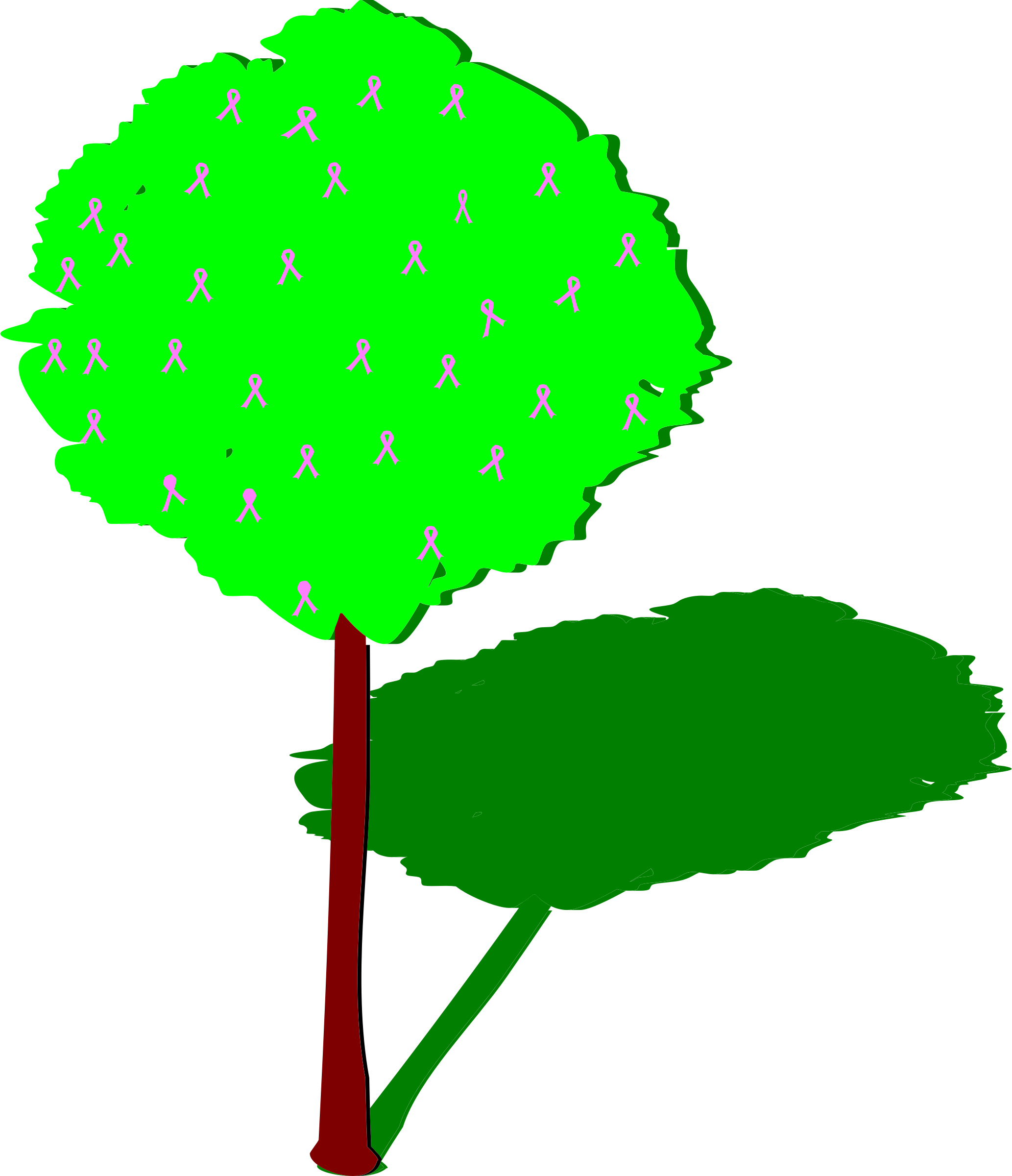 Tree of life with. Grass clipart shadow