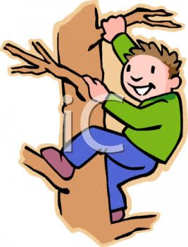 Image result for climbing. Tree clipart boy
