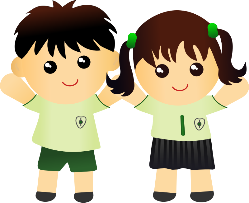 collection of kids. Girls clipart student