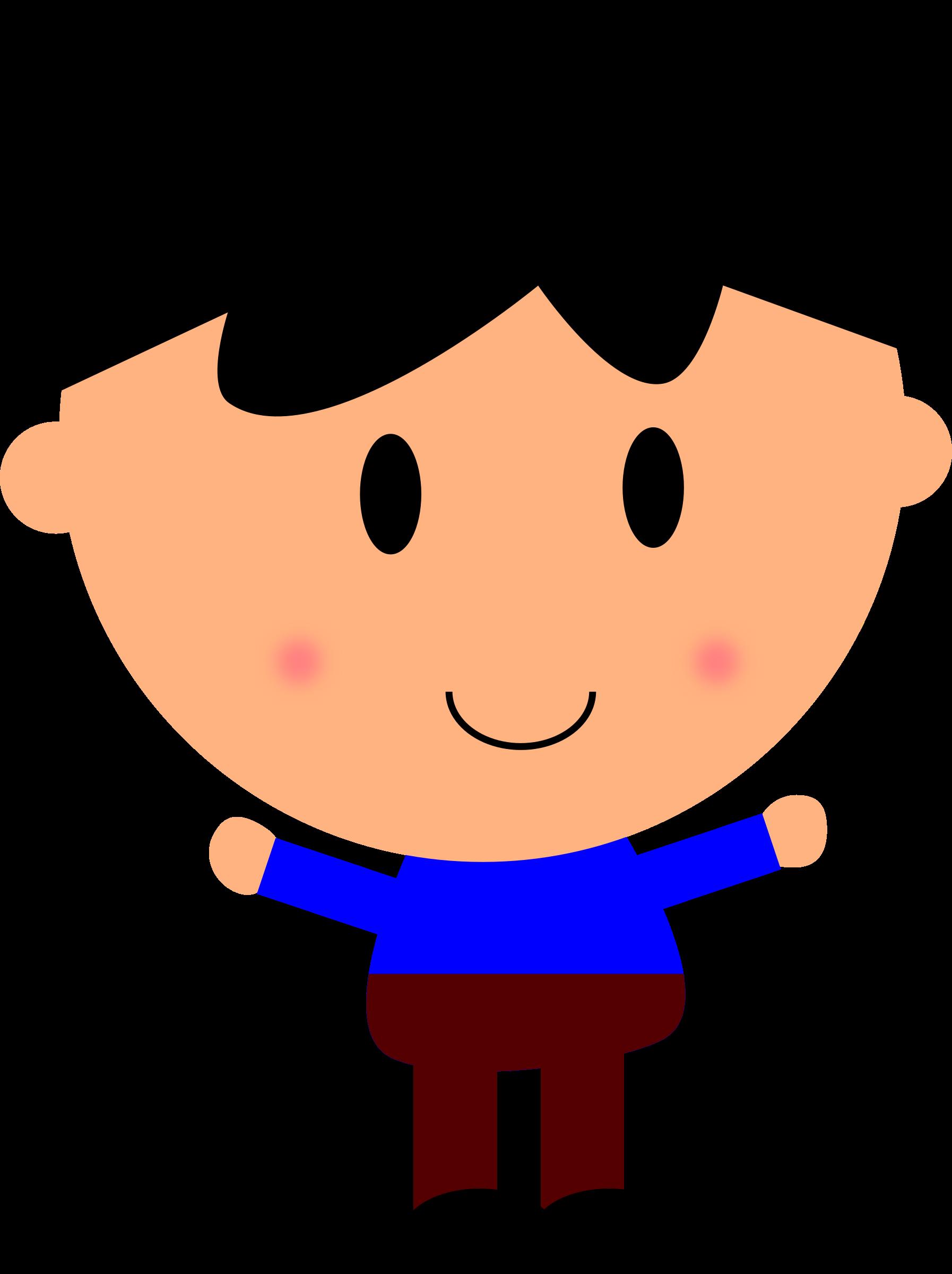 Cartoon boy hd top. Clipart smile boy's
