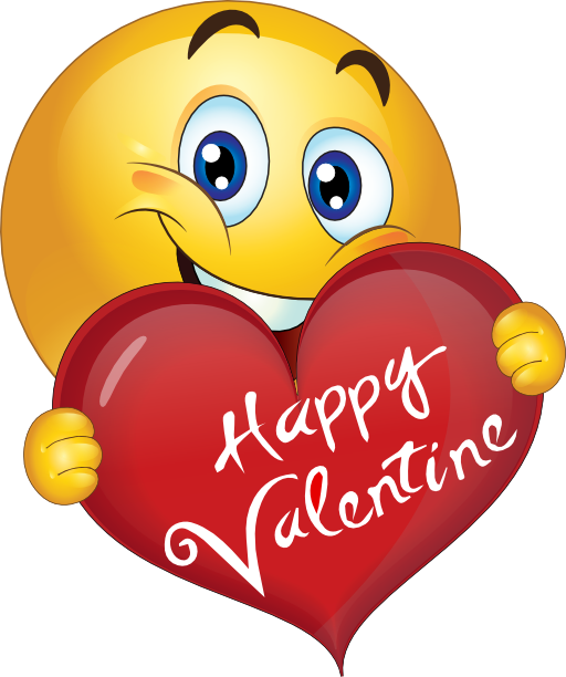 Clipart boy valentines. Happy valentine smiley emoticon