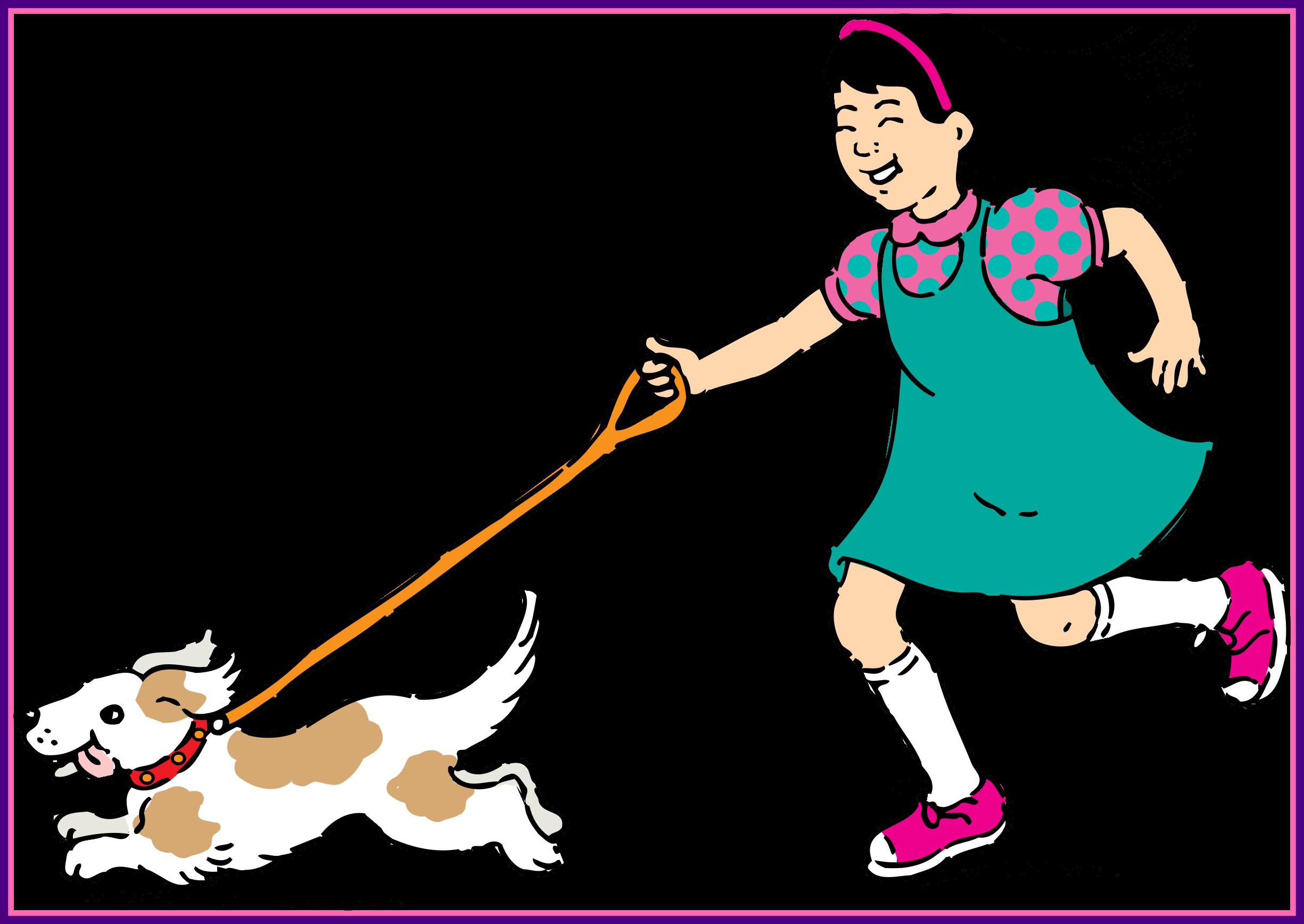 Clipart walking sponsored walk. Fascinating dog for cartoon