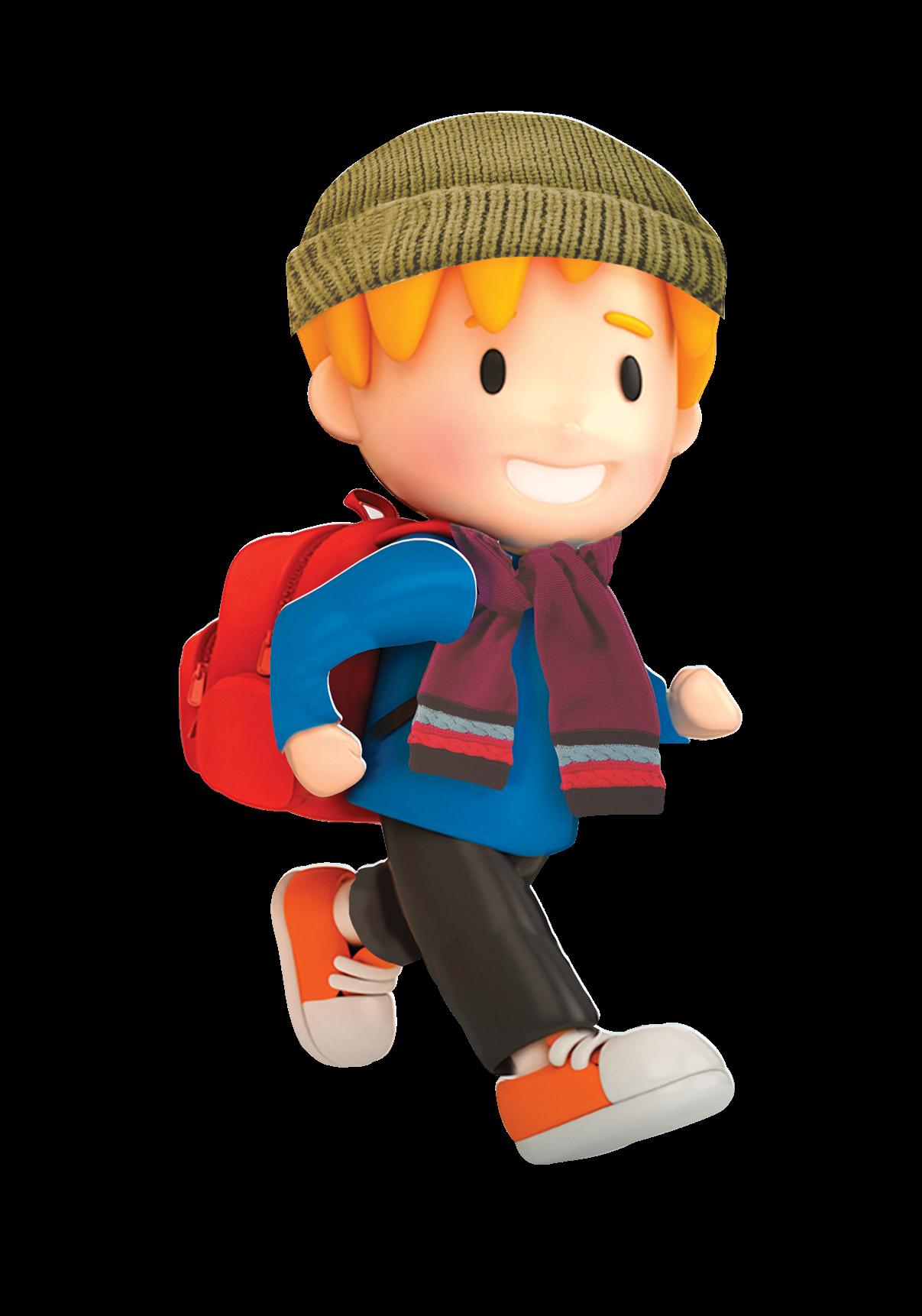 Student clipart walking. Winter walk to school