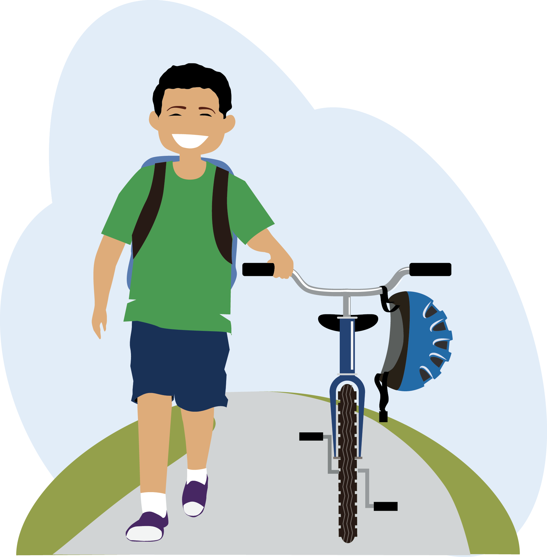 Access for and biking. Clipart walking skip