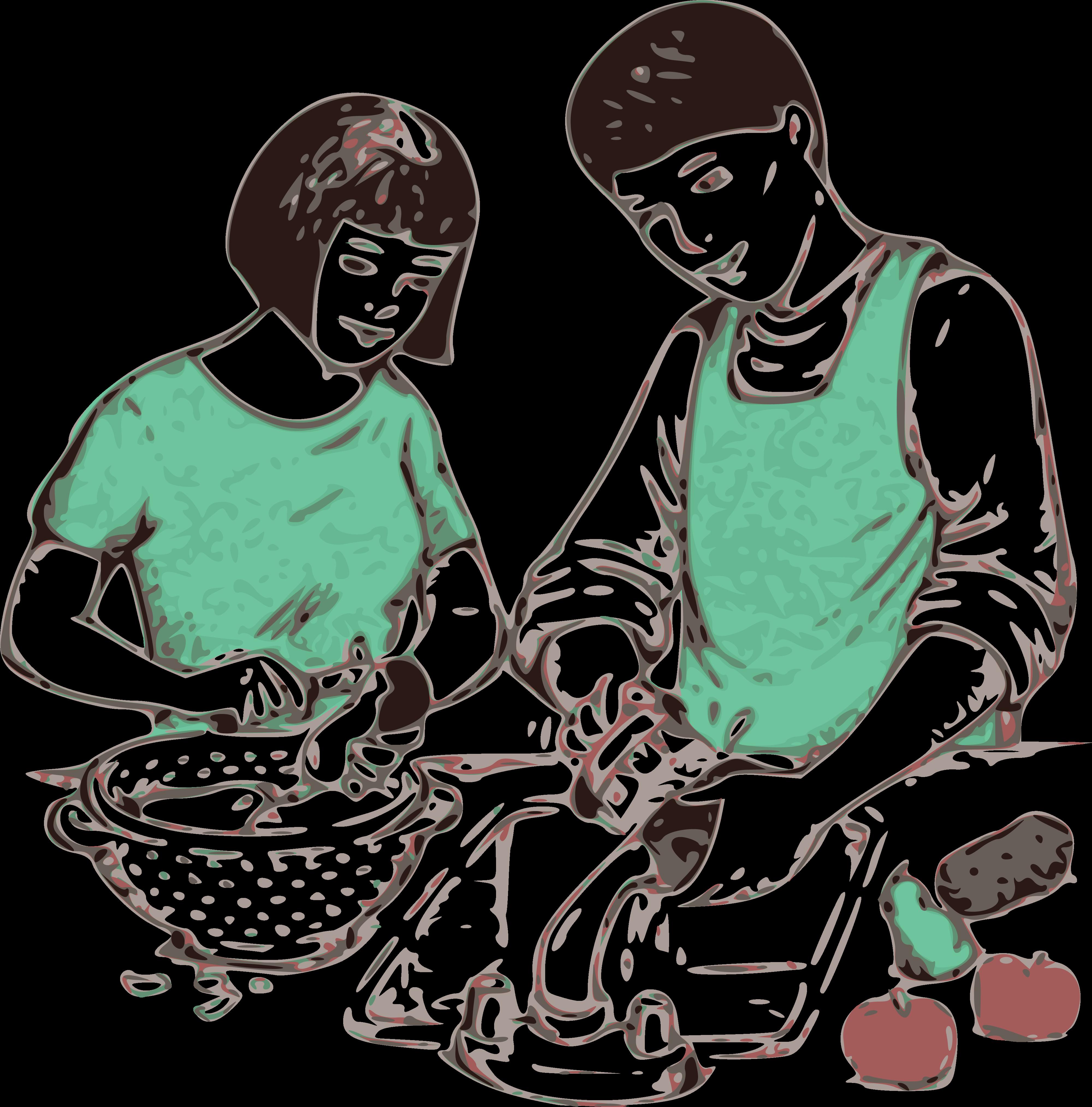 Clipart boy washing dish.  huge freebie download