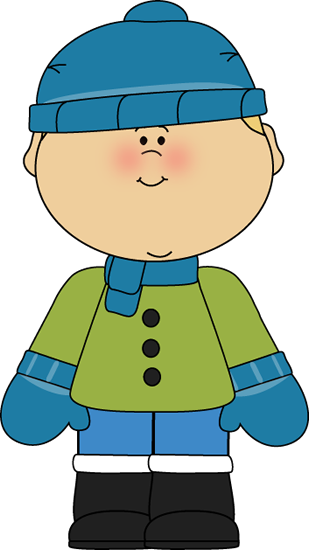 Boy dressed for christmas. Winter clipart child