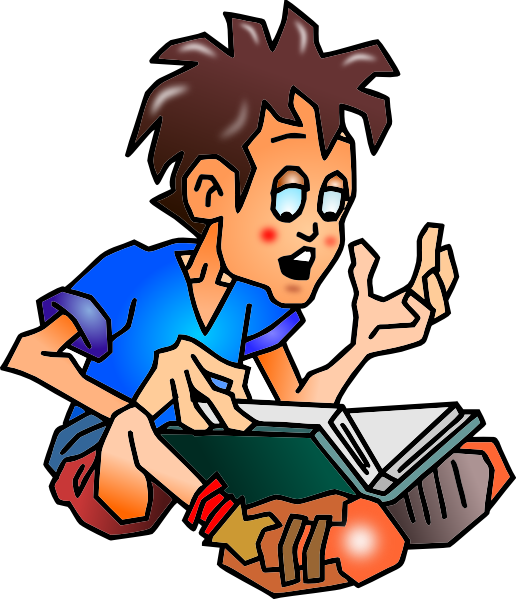 Greek clipart student. Boy and girl writing