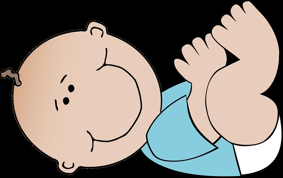 Baby yoga drop in. Rabbi clipart animated
