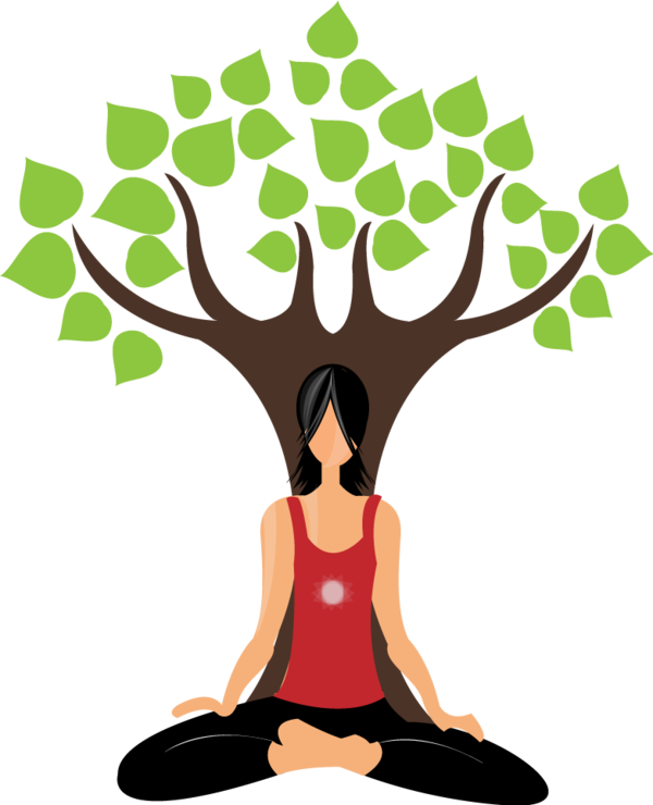 Lady clipart yoga. Illustrations tips for life