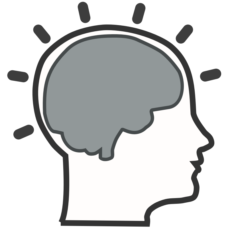 Silhouette brain at getdrawings. Einstein clipart logo