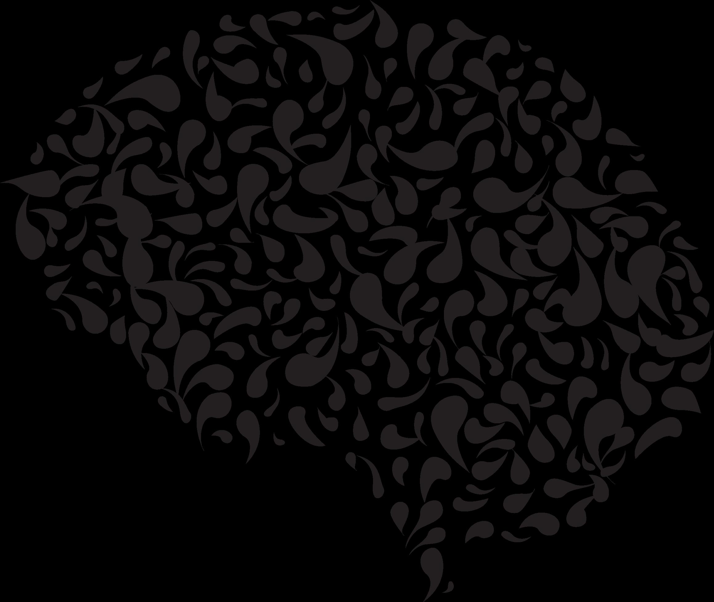 Drops brain big image. Psychology clipart abstract art