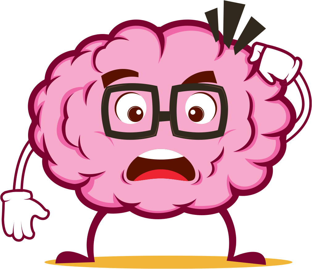 Clipart brain animated. Emoji stickers by el