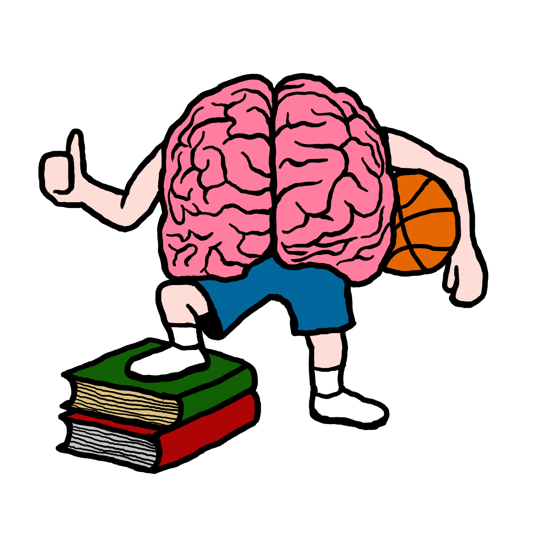 Basketball of pe stoke. Clipart brain brain power
