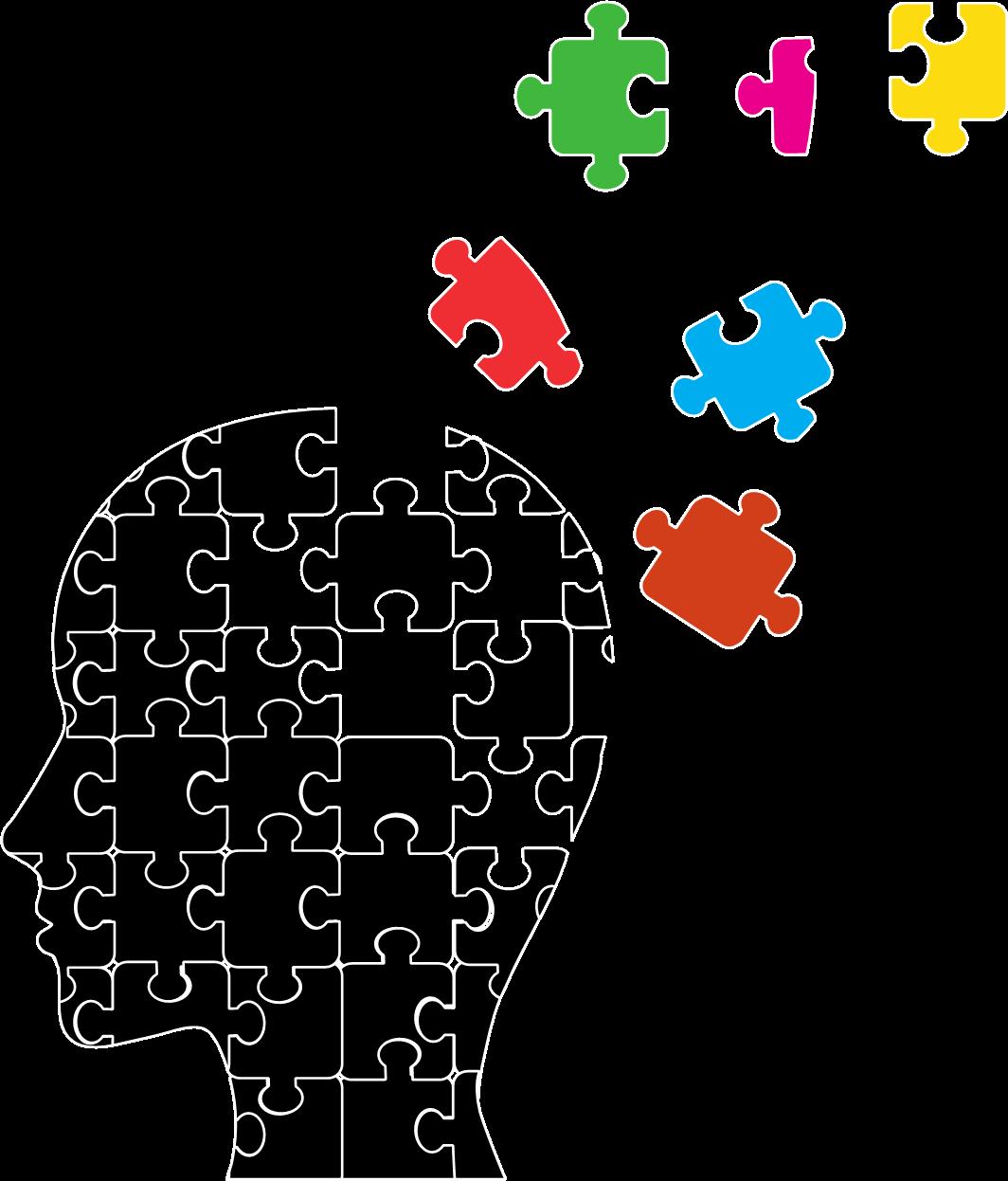 Mild impairment cognition disorder. Clipart brain cognitive