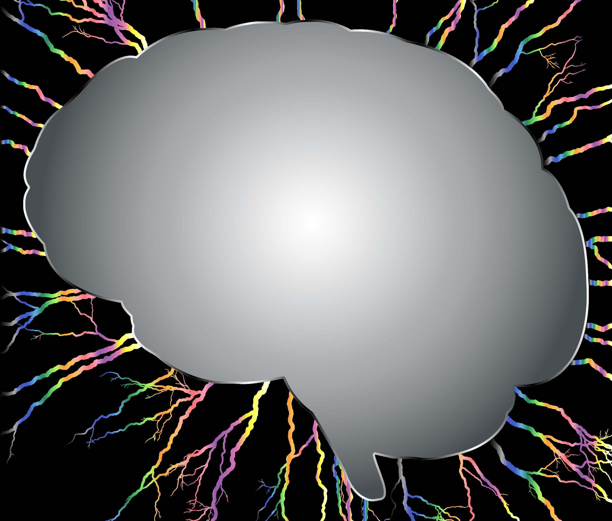 Storm no background big. Clipart brain colorful