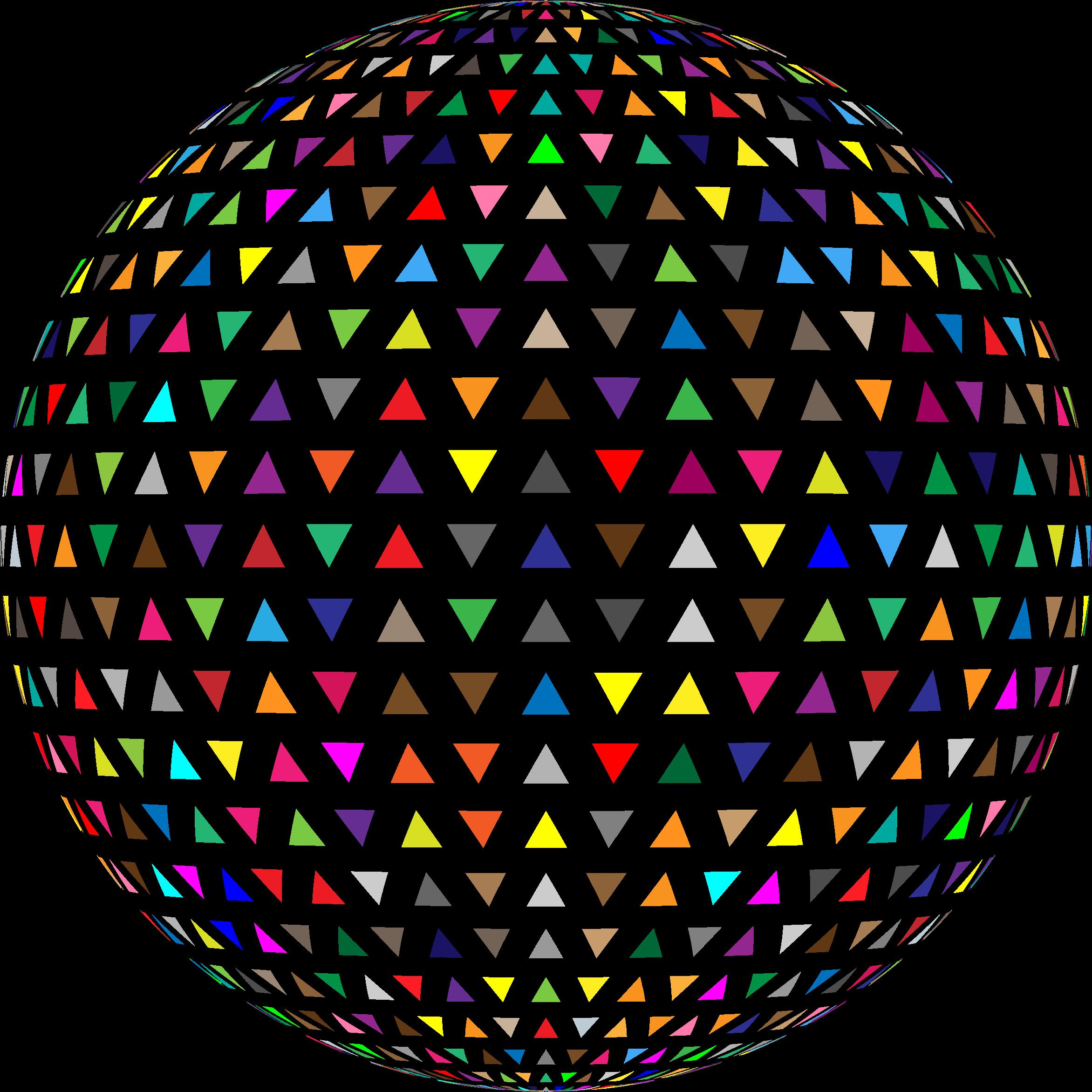 Interlocking triangles sphere big. Clipart brain colorful