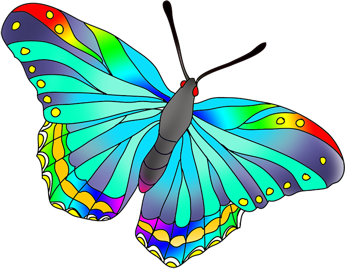 As the butterflies colors. Clipart butterfly realistic