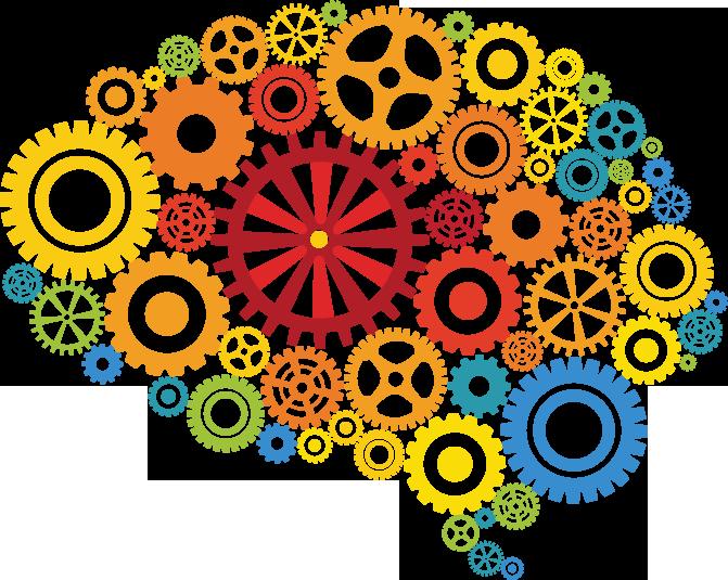 Health byourbest customcoloredbrain. Clipart brain colorful
