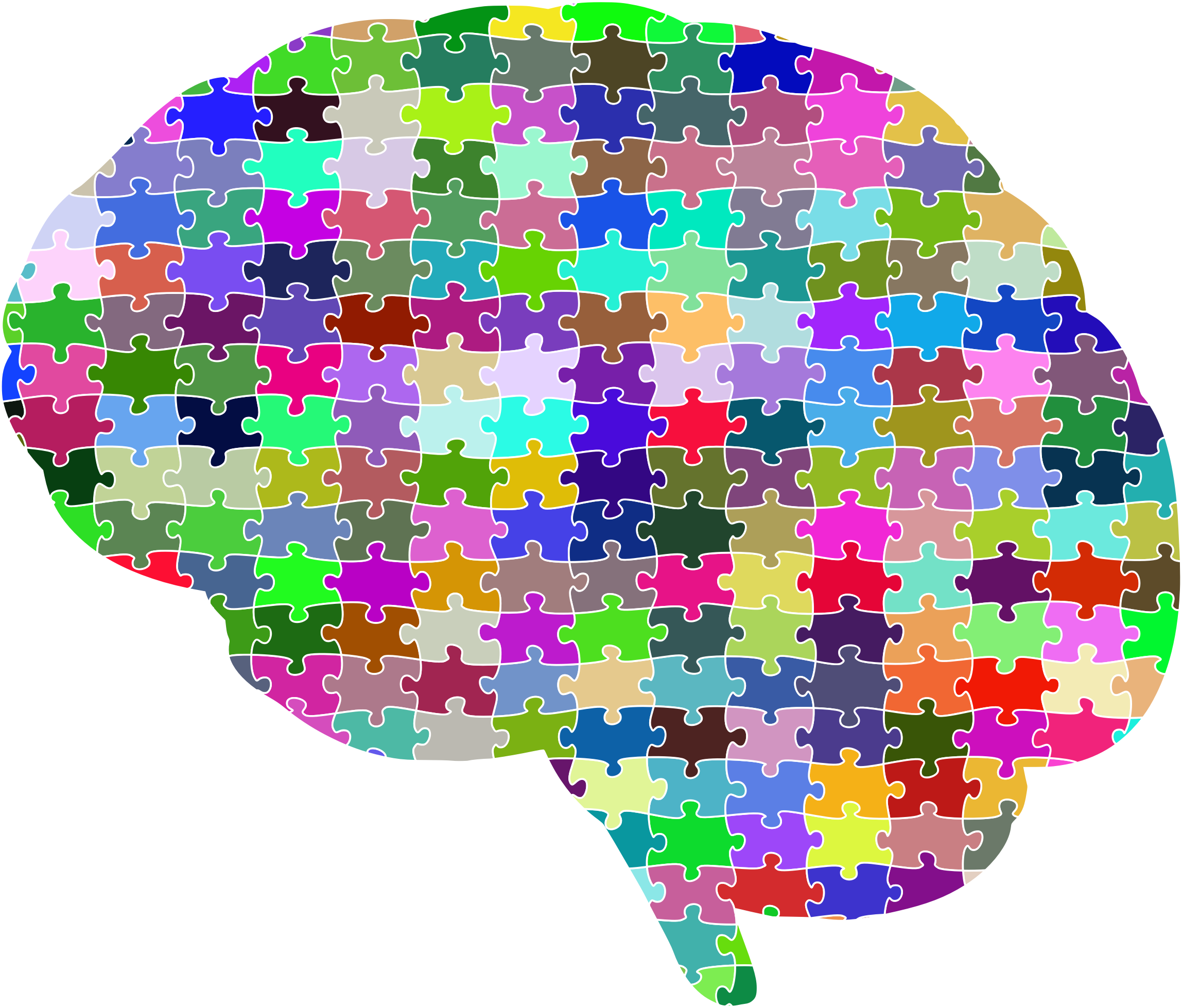 Clipart brain colorful. Jigsaw puzzle prismatic with