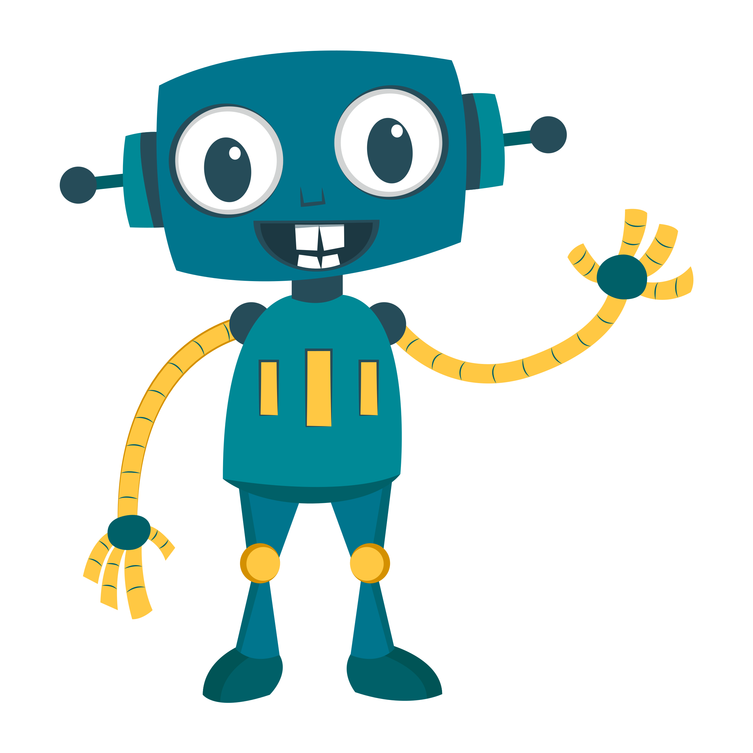Happy robot cute remix. Clipart toys kawaii