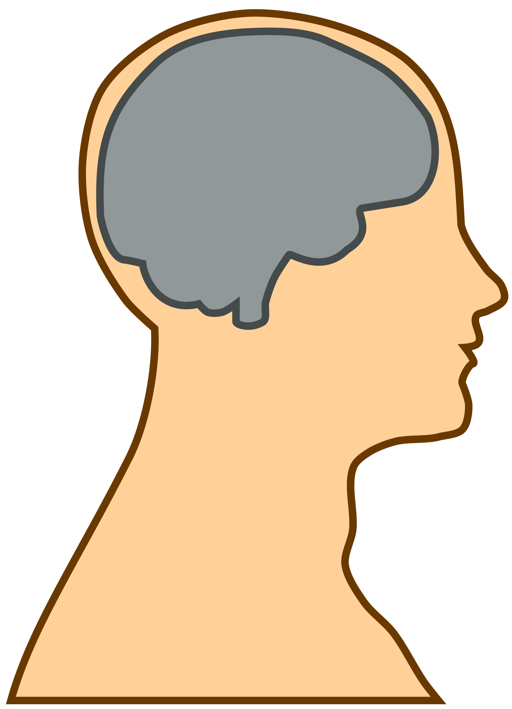 Silhouette brain at getdrawings. Humans clipart human thinking