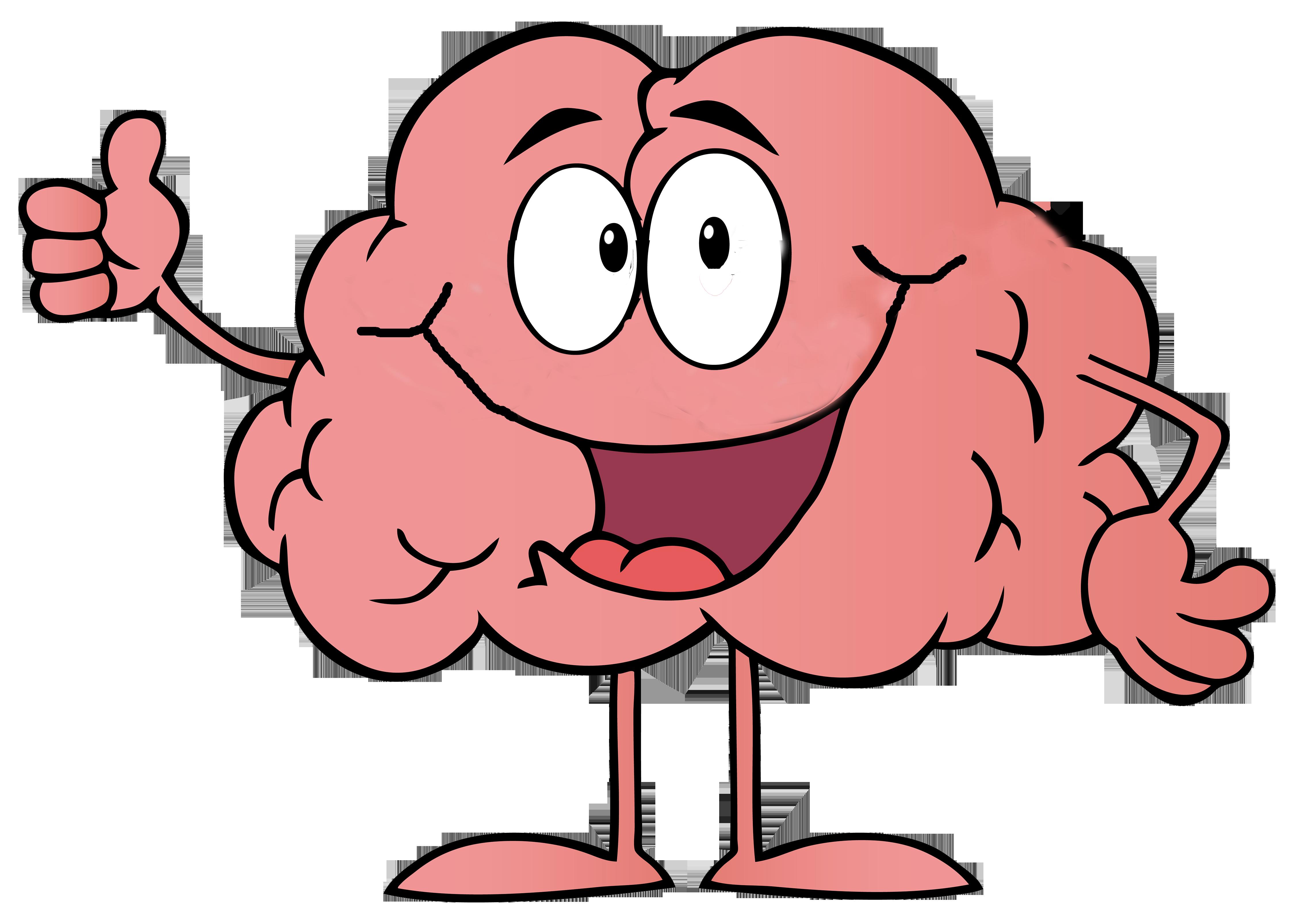 Cartoon clip art transprent. Clipart brain emotion