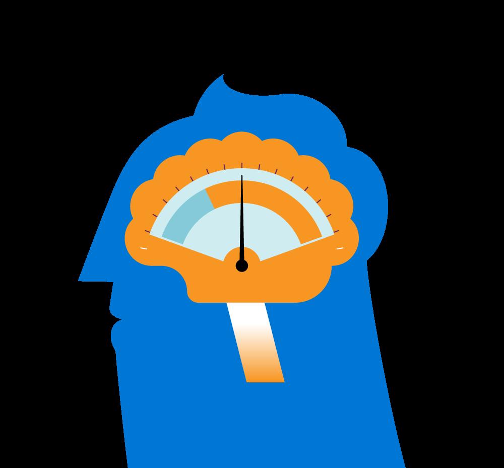 Clipart brain emotion. Dial emotions orange psi