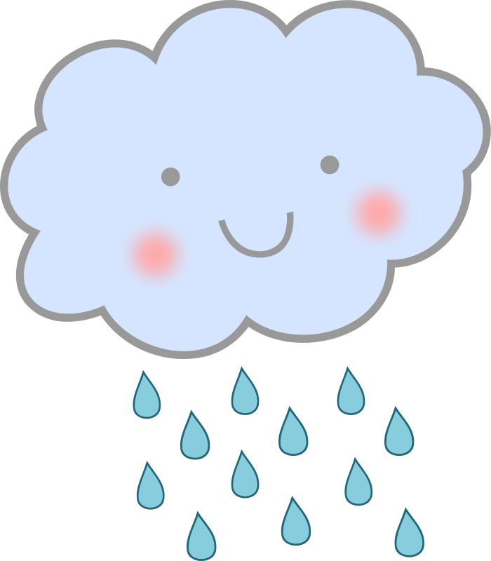 Happy rain cloud clip. Wednesday clipart rainy