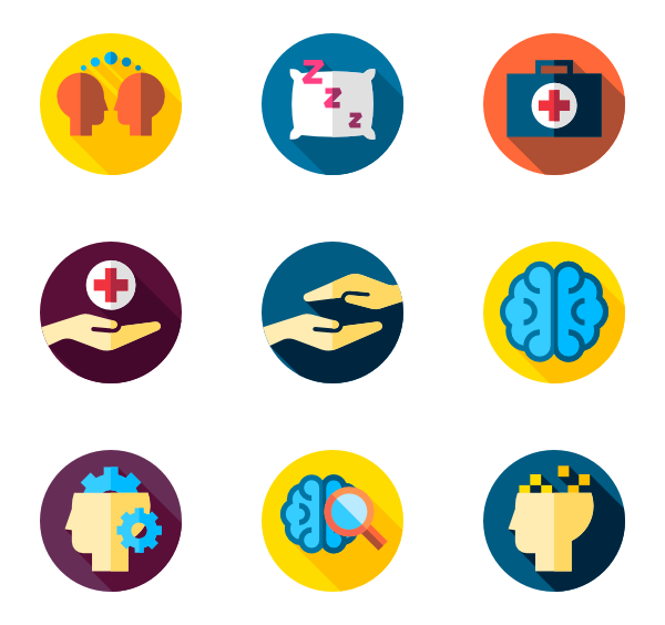 Icons free vector . Psychology clipart brain idea