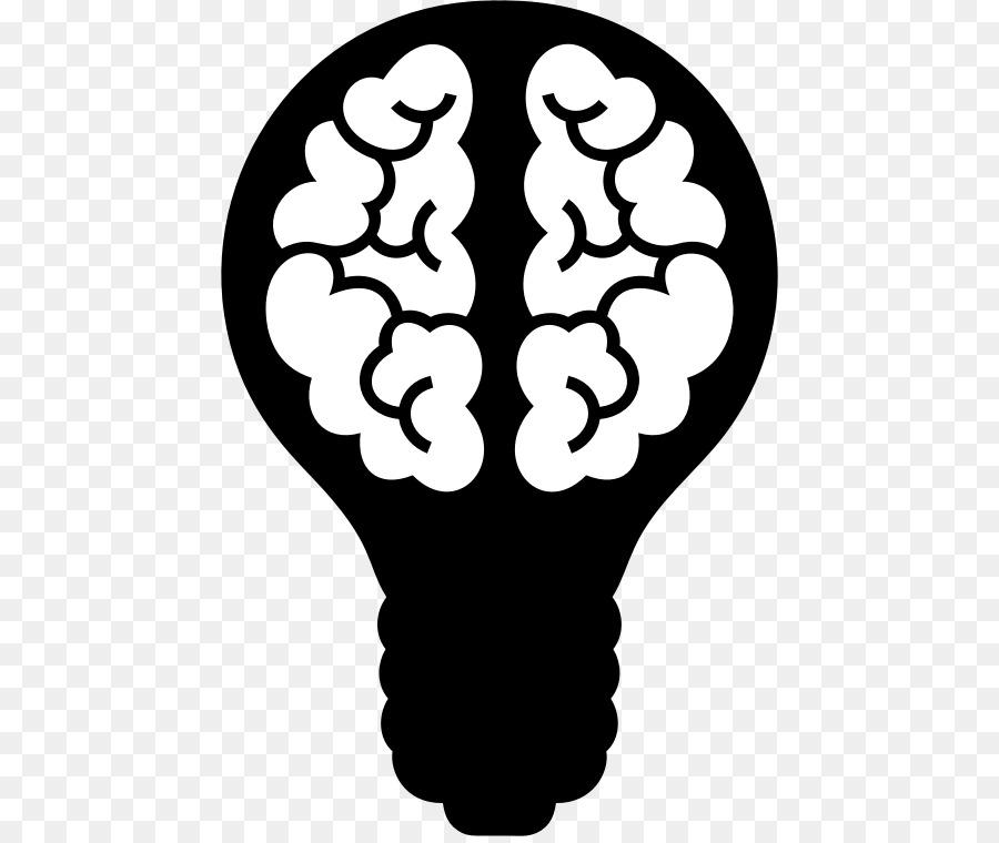 Lamp clipart brain. Light bulb cartoon transparent