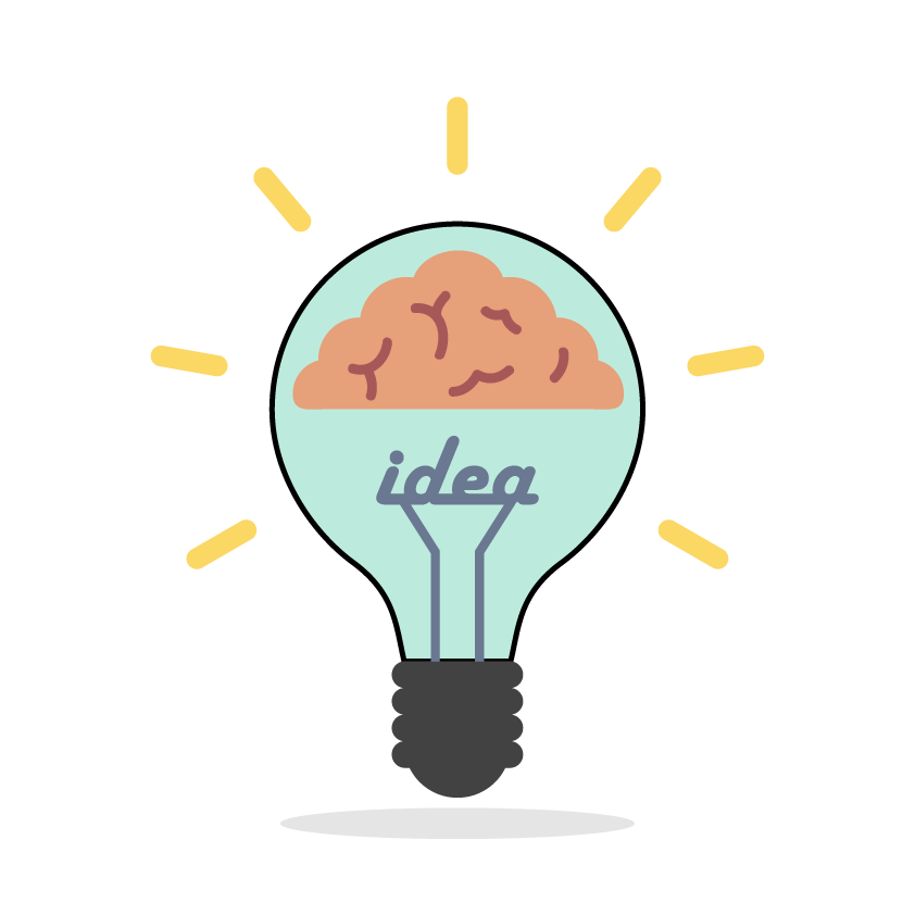 Cartoon with lightbulb beautiful. Electricity clipart brain