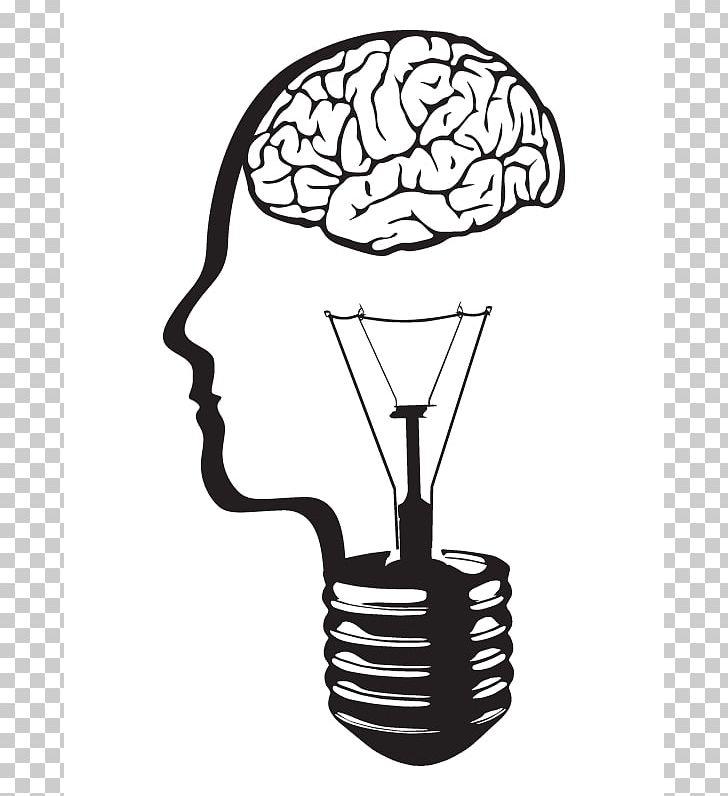 Incandescent light bulb png. Electricity clipart brain
