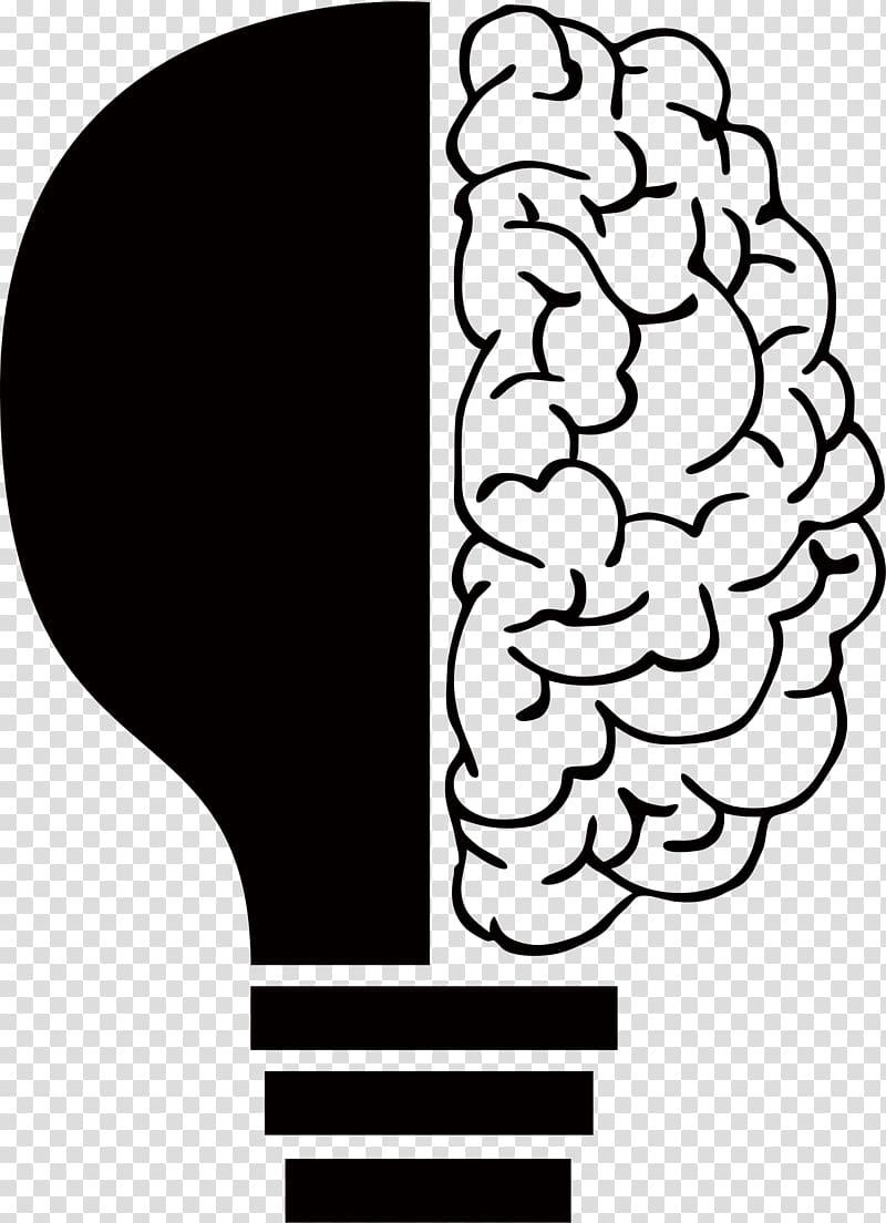 Lamp clipart brain. Incandescent light bulb idea