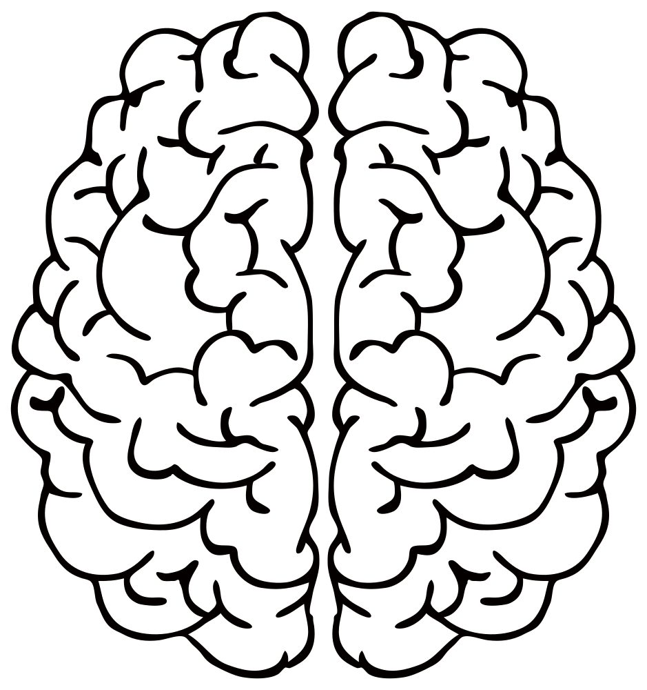 Clipart brain line art. Onlinelabels clip abstract details