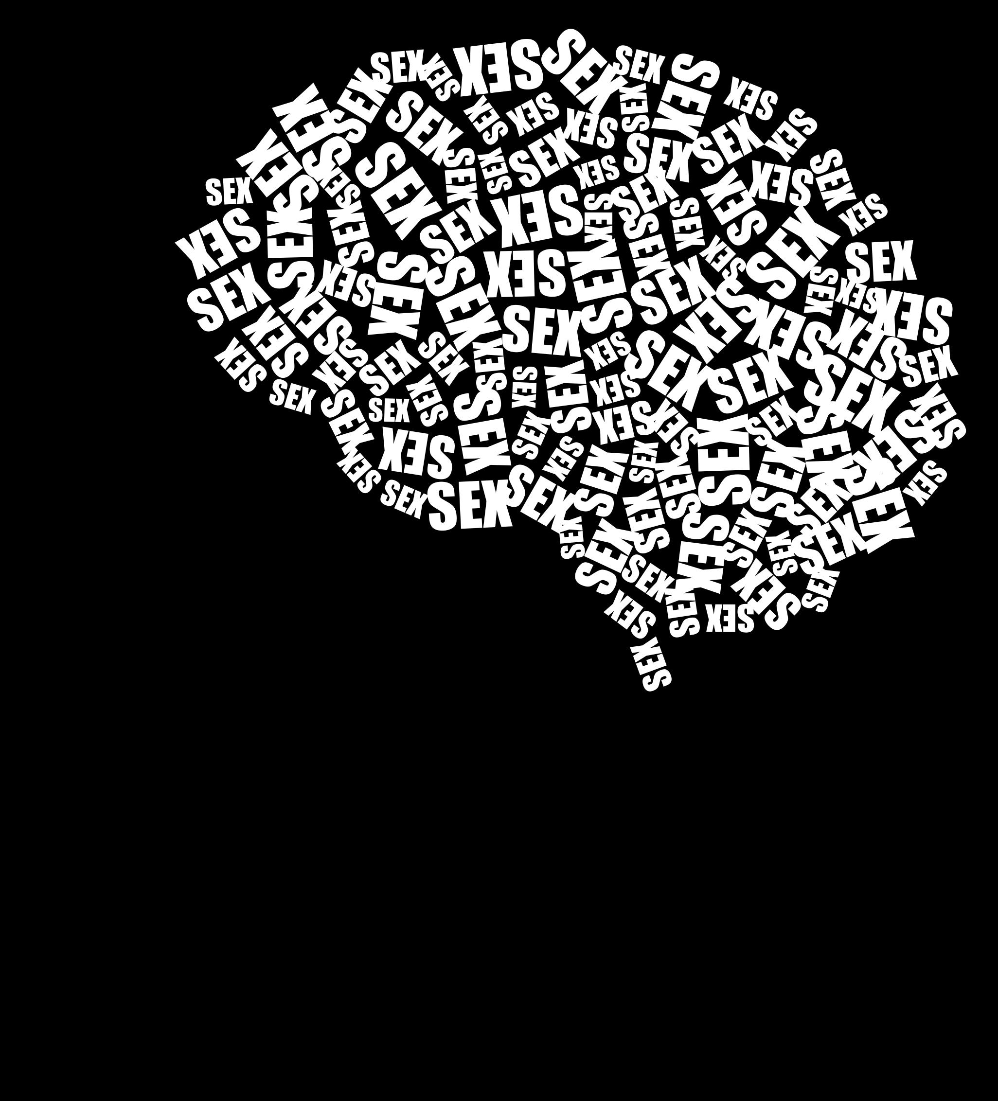 One track big image. Clipart brain mind