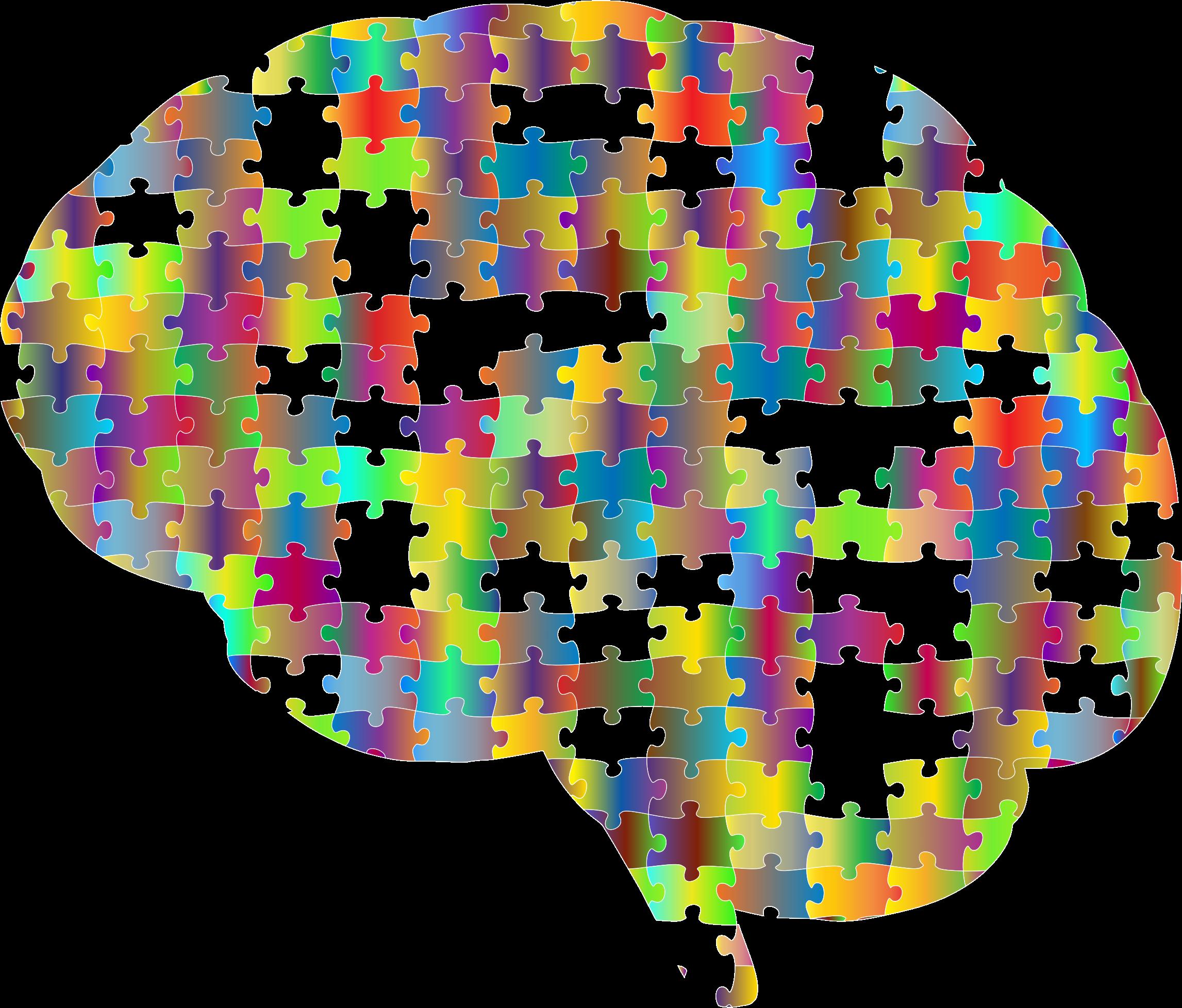 Missing brain jigsaw prismatic. Psychology clipart puzzle head