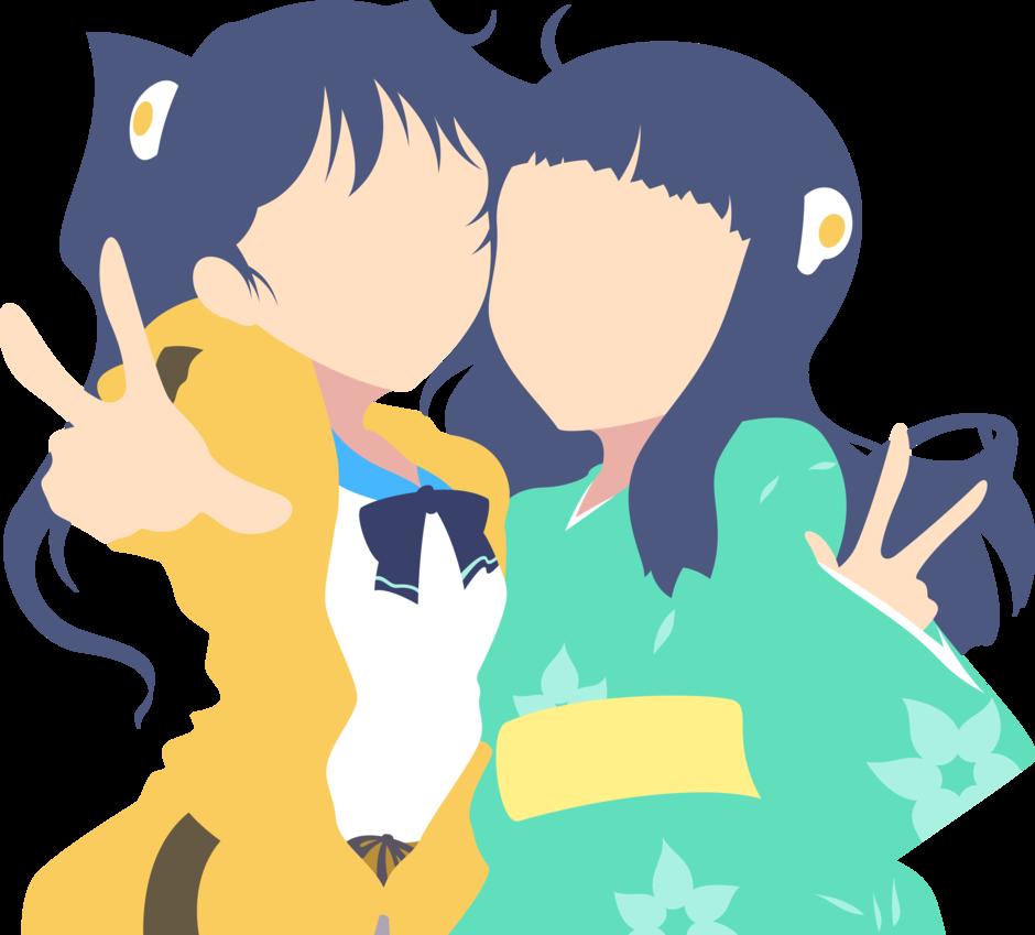 Bakemonogatari araragi sisters minimalism. Clipart brain minimalist