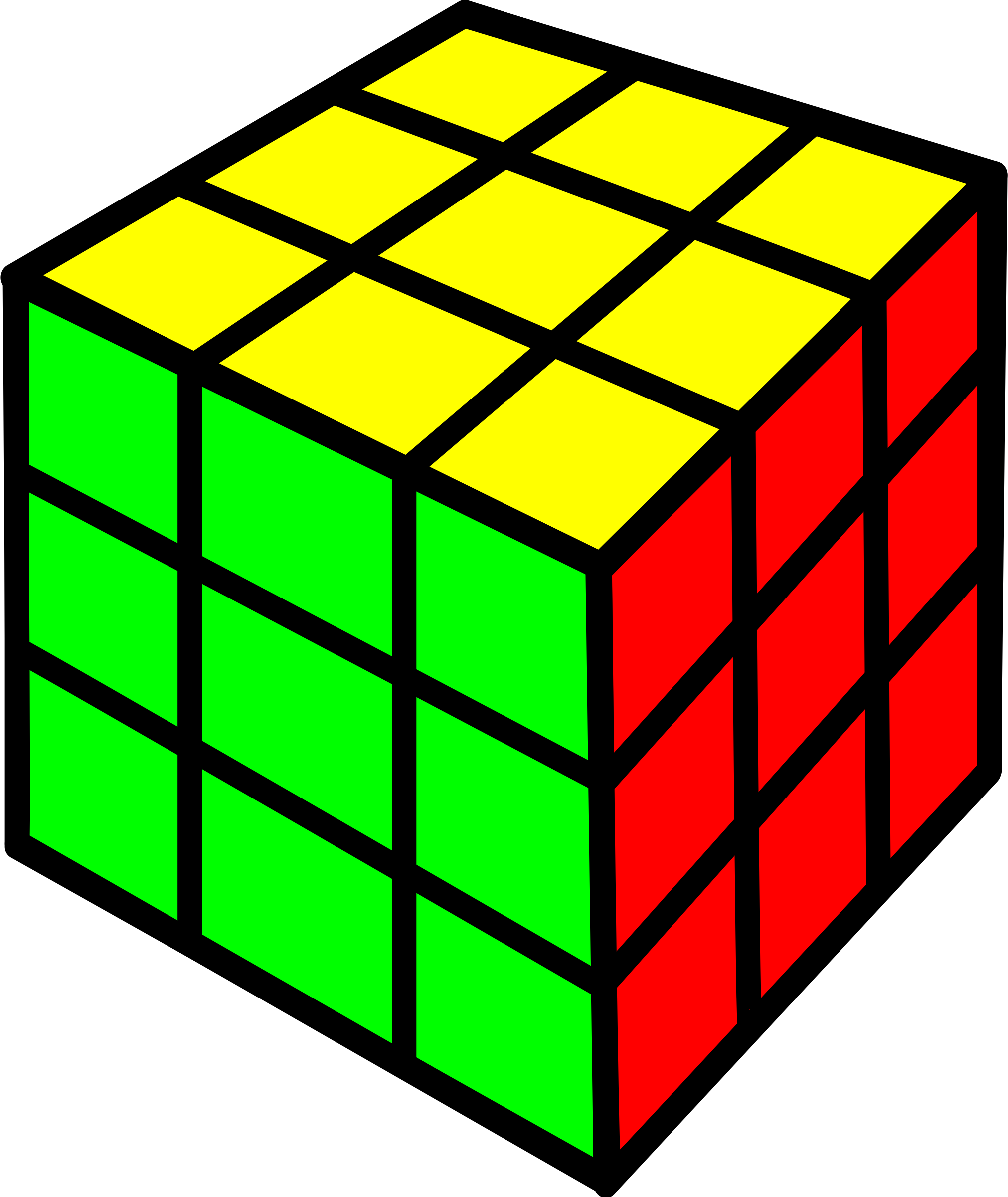 Rubik cube big image. Square clipart square shaped