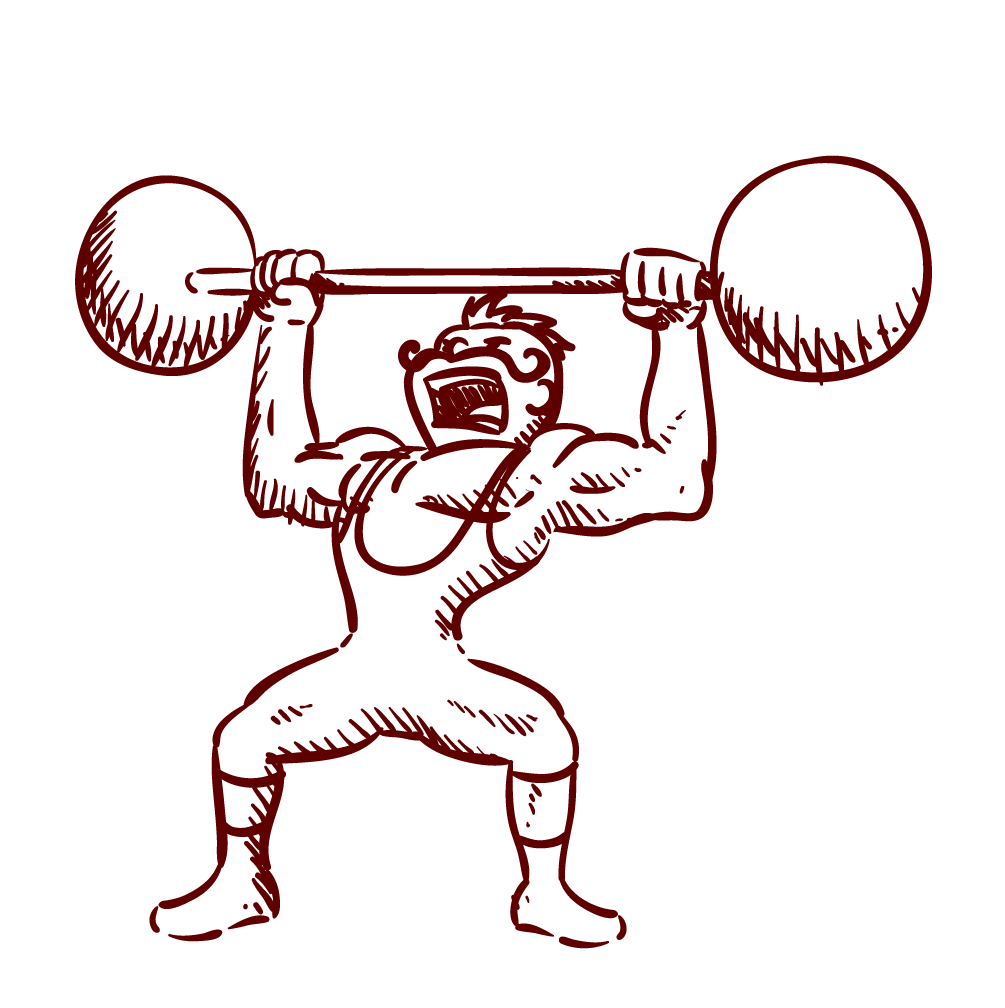 Lifting drawing at getdrawings. Exercise clipart weight gym