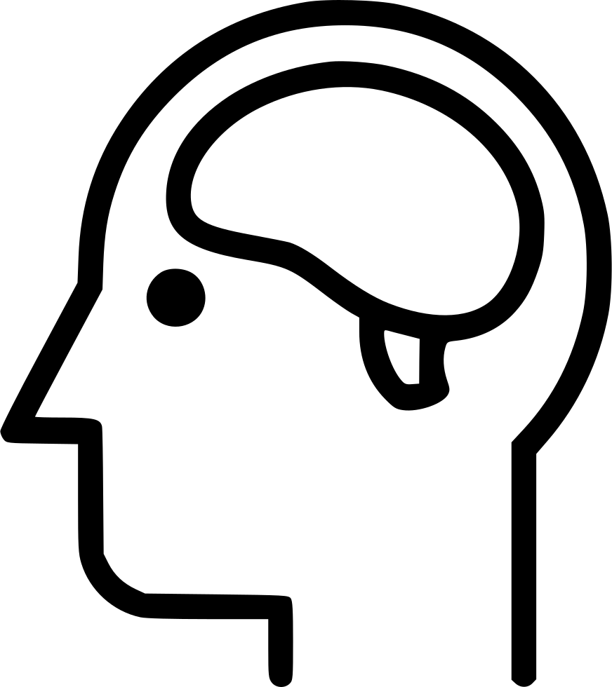 Nervous mind head anatomy. Clipart brain nerve system