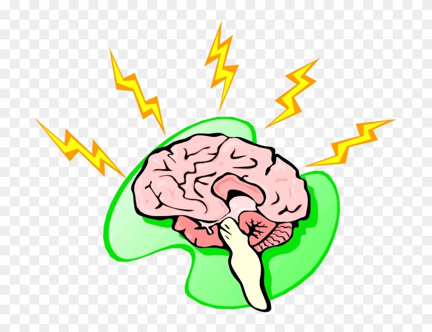 Lightning nervous clip art. Clipart brain nerve system