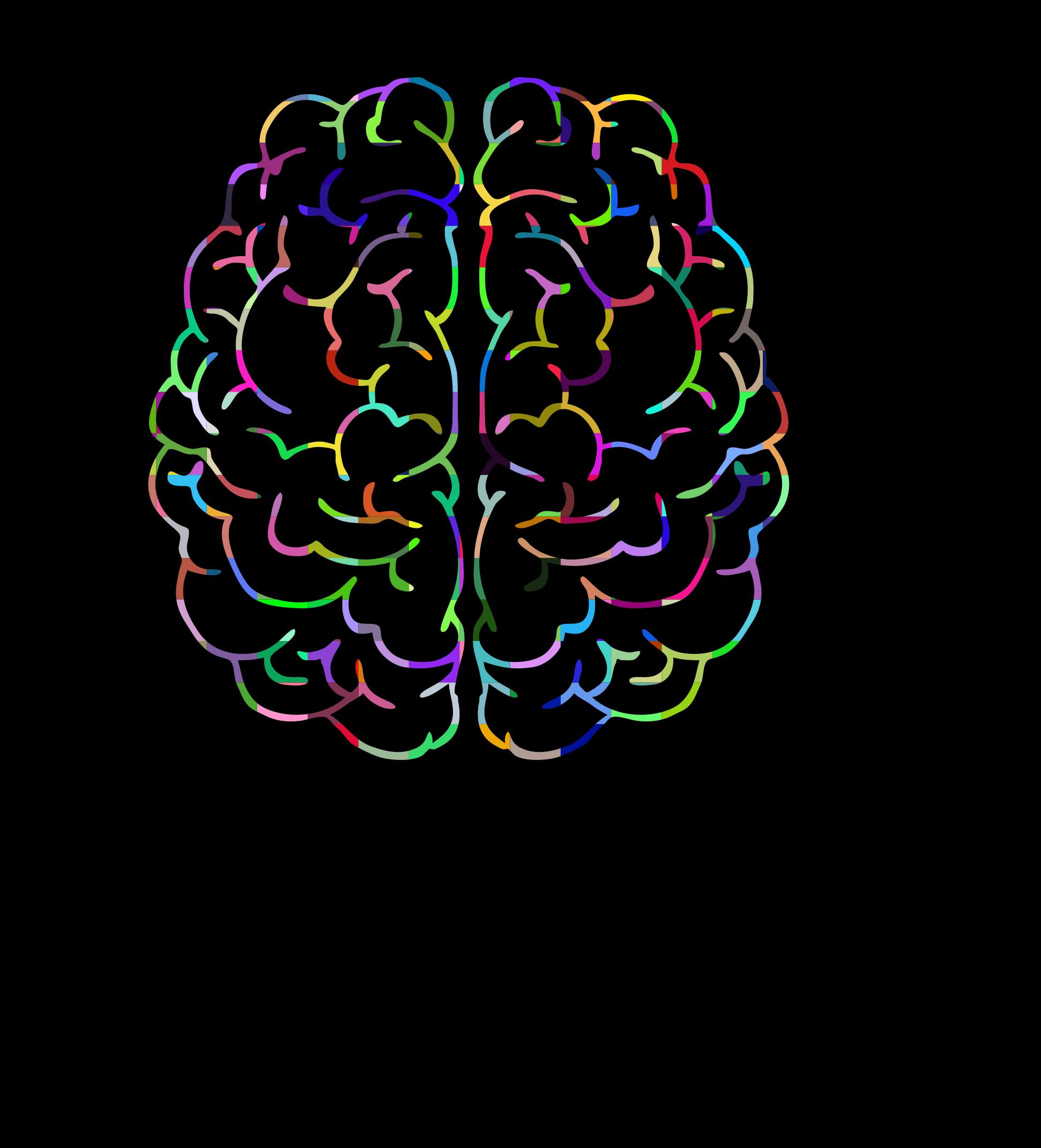 In man head prismatic. Psychology clipart human brain