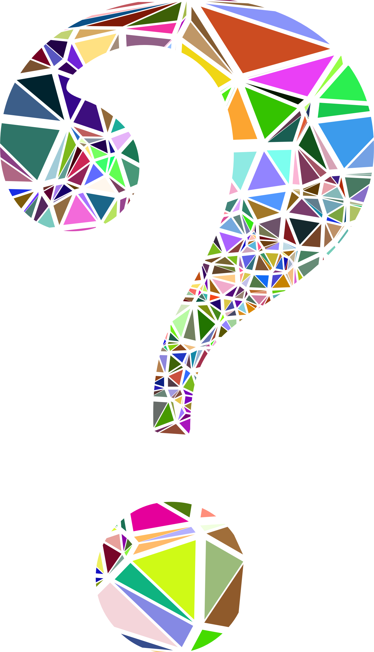 Clipart brain question. Low poly shattered mark