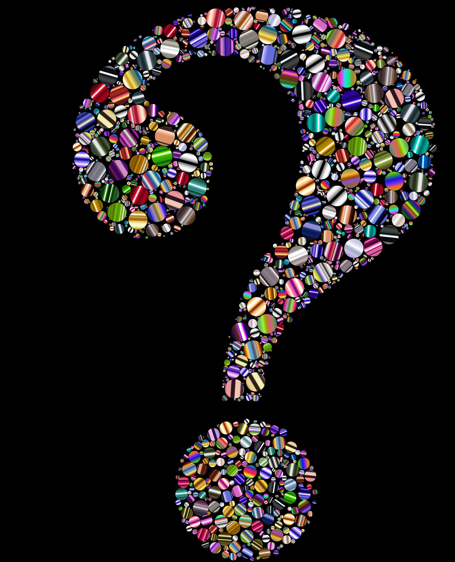 Clipart brain question. Colorful head circles big