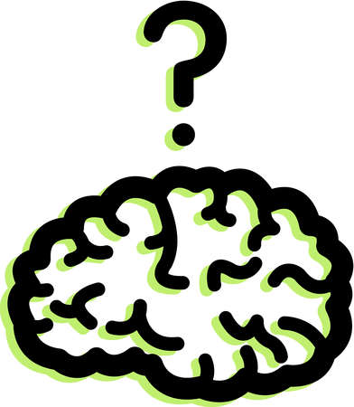 Stock illustration of a. Clipart brain question