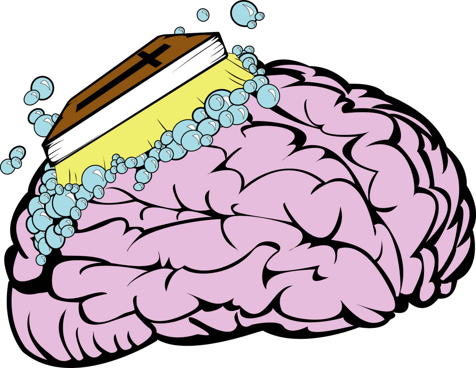 Clipart brain reading. Read your bible wash