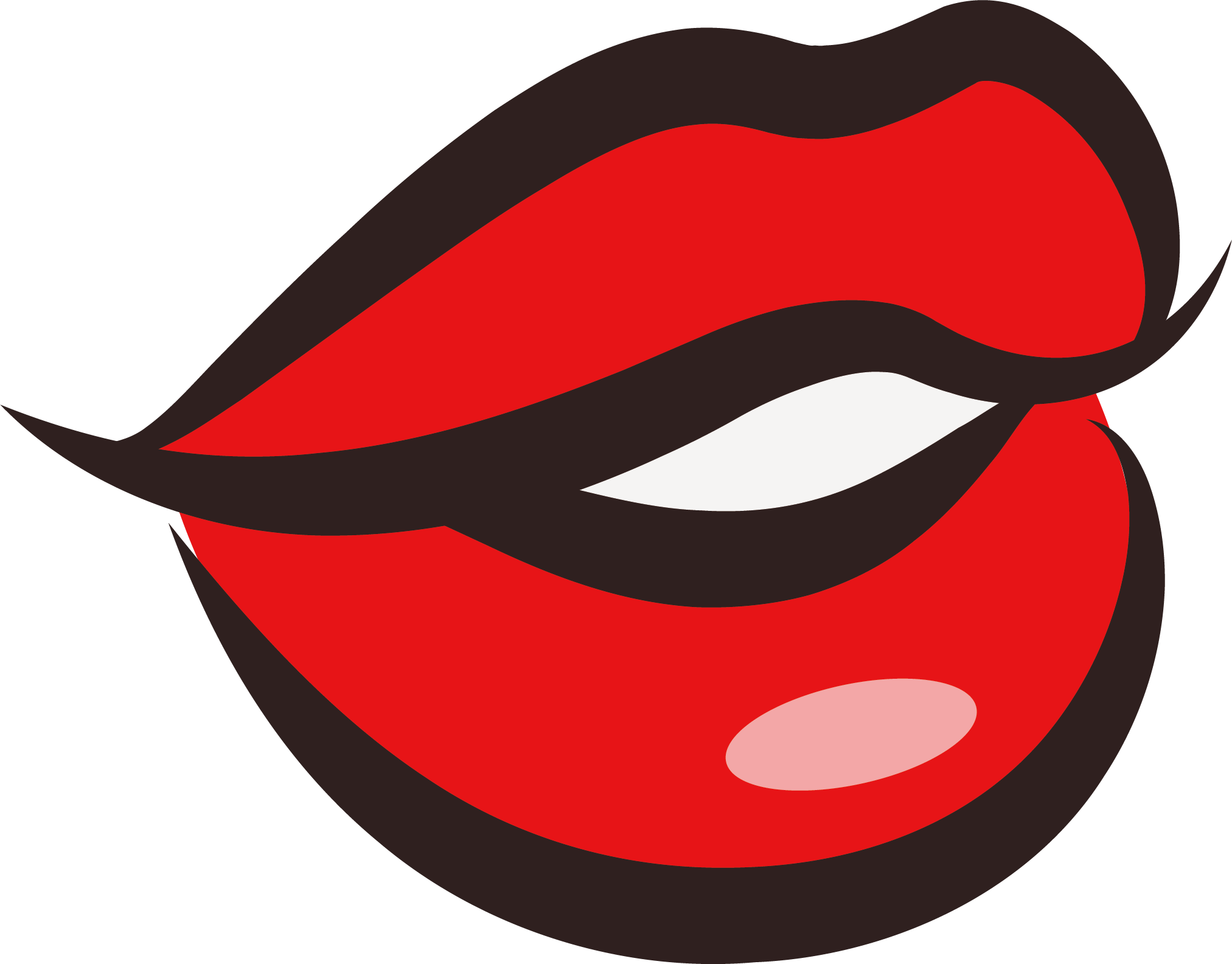 Lips clipart anamated. Kissing at getdrawings com