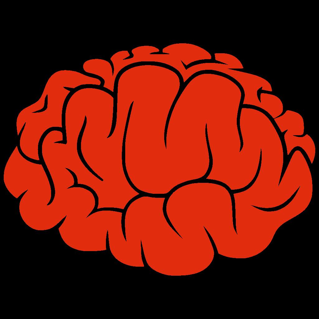 File red silhouette svg. Person clipart brain