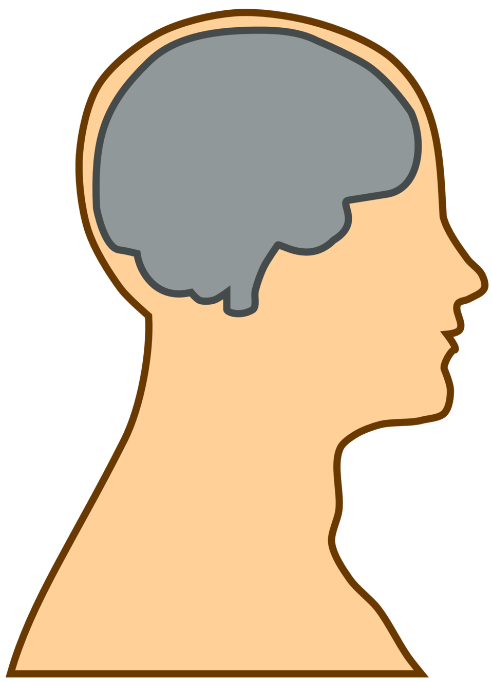 Public domain clip art. Neck clipart chin